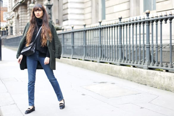 Anoushka Probyn London UK Fashion Blogger LFW Outfit Jeans Asos Denim